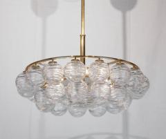 Doria Leuchten Brass Doria Chandlier with Organic Glass Orbs - 1826728