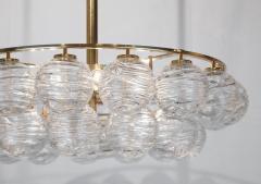 Doria Leuchten Brass Doria Chandlier with Organic Glass Orbs - 1826729