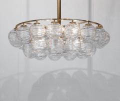 Doria Leuchten Brass Doria Chandlier with Organic Glass Orbs - 1826730