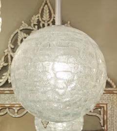 Doria Leuchten Large Doria Organic Crackle Glass Globe Pendant - 162311