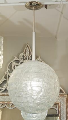 Doria Leuchten Large Doria Organic Crackle Glass Globe Pendant - 162312