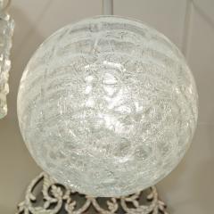 Doria Leuchten Large Doria Organic Crackle Glass Globe Pendant - 162313