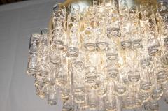 Doria Leuchten Massive Doria Organic Tube Gilt Flushmount Chandelier - 1826786