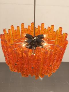 Doria Leuchten Mid Century Orange Acrylic Icicle Chandelier - 476848