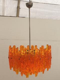 Doria Leuchten Mid Century Orange Acrylic Icicle Chandelier - 476850