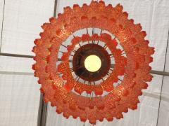 Doria Leuchten Mid Century Orange Acrylic Icicle Chandelier - 476851
