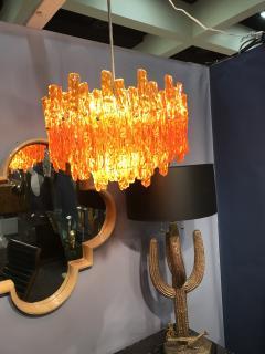 Doria Leuchten Mid Century Orange Acrylic Icicle Chandelier - 516826