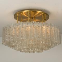 Doria Leuchten One of the Two Large Blown Glass Brass Flush Mount Light Fixtures by Doria - 1039479