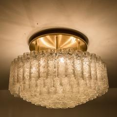 Doria Leuchten One of the Two Large Blown Glass Brass Flush Mount Light Fixtures by Doria - 1039480