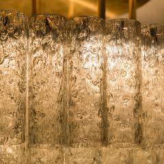Doria Leuchten One of the Two Large Blown Glass Brass Flush Mount Light Fixtures by Doria - 1039482
