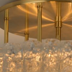 Doria Leuchten One of the Two Large Blown Glass Brass Flush Mount Light Fixtures by Doria - 1039483