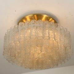 Doria Leuchten One of the Two Large Blown Glass Brass Flush Mount Light Fixtures by Doria - 1039485