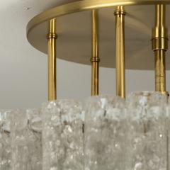 Doria Leuchten One of the Two Large Blown Glass Brass Flush Mount Light Fixtures by Doria - 1039486