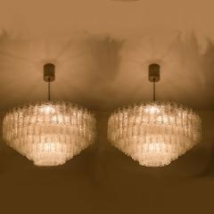 Doria Leuchten Pair of Doria Giant Ballroom Chandeliers with 130 4 Reserve Blown Glass tubes - 1027658