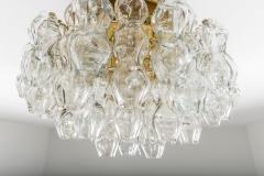 Doria Leuchten Pair of Flush Mounts in Brass and Glass by Doria Lichtenwerken - 881169