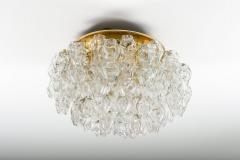 Doria Leuchten Pair of Flush Mounts in Brass and Glass by Doria Lichtenwerken - 881170