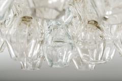 Doria Leuchten Pair of Flush Mounts in Brass and Glass by Doria Lichtenwerken - 881171