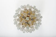 Doria Leuchten Pair of Flush Mounts in Brass and Glass by Doria Lichtenwerken - 881172