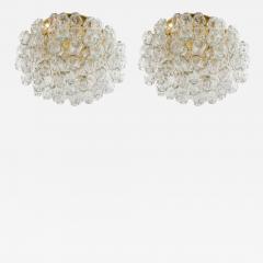 Doria Leuchten Pair of Flush Mounts in Brass and Glass by Doria Lichtenwerken - 881701