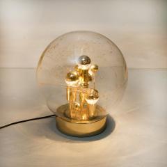 Doria Leuchten Pair of Large Hand Blown Bubble Glass Doria Table Lamps 1970 - 1027696