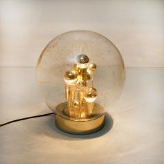 Doria Leuchten Pair of Large Hand Blown Bubble Glass Doria Table Lamps 1970 - 1027697