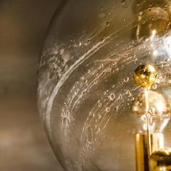 Doria Leuchten Pair of Large Hand Blown Bubble Glass Doria Table Lamps 1970 - 1027698