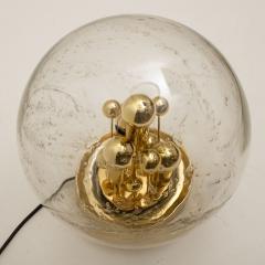 Doria Leuchten Pair of Large Hand Blown Bubble Glass Doria Table Lamps 1970 - 1027733