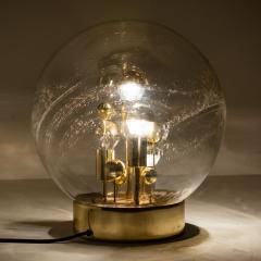 Doria Leuchten Pair of Large Hand Blown Bubble Glass Doria Table Lamps 1970 - 1027734