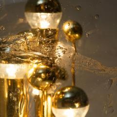 Doria Leuchten Pair of Large Hand Blown Bubble Glass Doria Table Lamps 1970 - 1027736