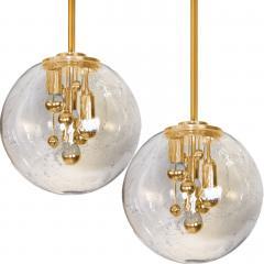 Doria Leuchten Pair of Large Hand Blown Bubble Glass Doria Table Lamps 1970 - 1027737