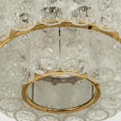Doria Leuchten Pair of Large Murano Glass Chandeliers by Doria 1960s - 1061441