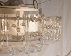 Doria Leuchten Two Tier Organic Glass Flushmount with Brass Surround - 1826620