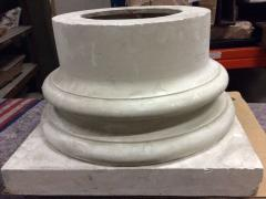 Doric column base in plaster France end of XIXth century - 915661