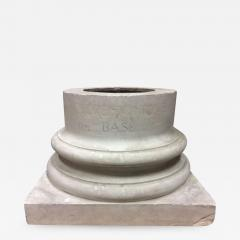 Doric column base in plaster France end of XIXth century - 917298