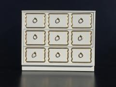 Dorothy Draper Cream Lacquered Espana Chest of Drawers by Dorothy Draper - 444932