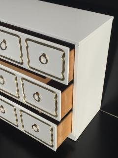 Dorothy Draper Cream Lacquered Espana Chest of Drawers by Dorothy Draper - 444933