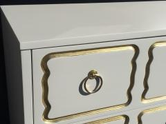 Dorothy Draper Cream Lacquered Espana Chest of Drawers by Dorothy Draper - 444935