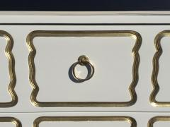 Dorothy Draper Cream Lacquered Espana Chest of Drawers by Dorothy Draper - 444936