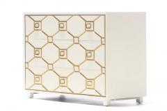 Dorothy Draper Dorothy Draper Viennese Collection Ivory Chest with Gold Incised Drawers - 2014396