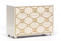Dorothy Draper Dorothy Draper Viennese Collection Ivory Chest with Gold Incised Drawers - 2014413