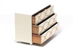 Dorothy Draper Dorothy Draper Viennese Collection Ivory Chest with Gold Incised Drawers - 2014414