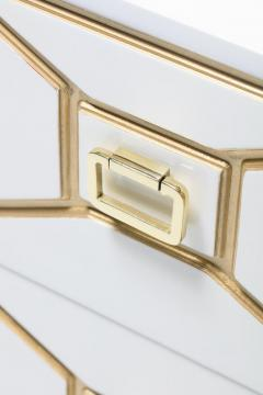 Dorothy Draper Dorothy Draper Viennese Collection Ivory Chest with Gold Incised Drawers - 2014421