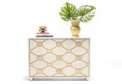 Dorothy Draper Dorothy Draper Viennese Collection Ivory Chest with Gold Incised Drawers - 2014430