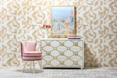 Dorothy Draper Dorothy Draper Viennese Collection Ivory Chest with Gold Incised Drawers - 2014433