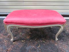 Dorothy Draper Hollywood Regency Cabriole Leg Bench Painted Gilt Finish - 1139177