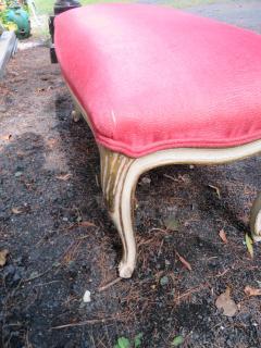 Dorothy Draper Hollywood Regency Cabriole Leg Bench Painted Gilt Finish - 1139183