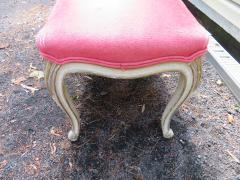 Dorothy Draper Hollywood Regency Cabriole Leg Bench Painted Gilt Finish - 1139184