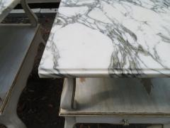 Dorothy Draper Lovely Pair Dorothy Draper style Marble Top Night Stands Hollywood Regency - 1139269