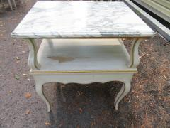 Dorothy Draper Lovely Pair Dorothy Draper style Marble Top Night Stands Hollywood Regency - 1139272