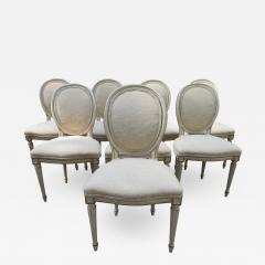 Dorothy Draper Lovely Set 8 Dorothy Draper style Fluted Leg Dining Chairs Hollywood Regency - 1140679